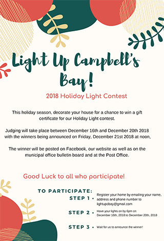 Light Up Campbell's Bay! - 2018 Holiday Lights Contest